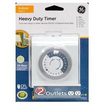 Ge 24 Horas Plug-in Heavy Duty Temporizador Interior, Blanc