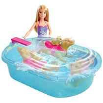 Barbie Piscina Perritos Mattel Dmc32
