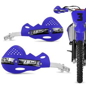 Protetor Mao Pro Tork Hps Alumínio Trilha Motocross Azul Par