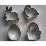 Cortante Set De Pascua Deco Galletita Canasta Conejo Huevo
