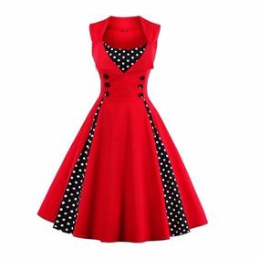 Vestido Bolinhas Bolas Retrô Pinup Vintage Anos 60