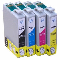 Kit 4 Cartuchos Tx105 Tx115 Cx5600 + Kit 4 Cores Tinta 100ml