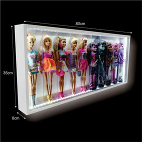 Estante Expositor Led - 10 Barbies -monster High Frozen Casa