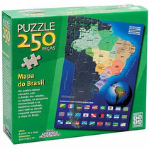 Quebra-cabeça 250 Peças Mapa Do Brasil - Grow