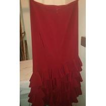Flamenco Falda De Volados Roja Y Una Falda Negra. Poco Uso