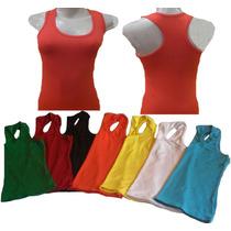 Camiseta Blusa Regata Feminina Nadador Algodão/cotton