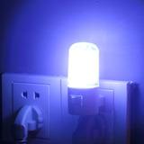 Lámpara Noche Luz 4 Led Pared Dormitorio Niños 1w Enchufe