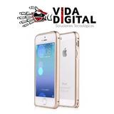 Bumper De Aluminio Premium Dorado Para Iphone 5/5s