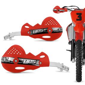 Protetor Mao Pro Tork Hps Vermelho Aluminio Trilha Motocross