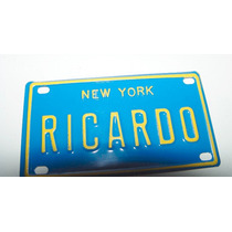 Placa Decorativa New York Nombre Ricardo 10 Cm.x 6 Cm
