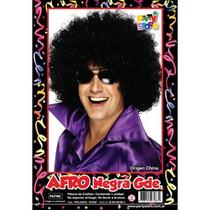 Peluca Afro Negra Cotillon