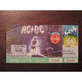 Entrada Ac/dc Sin Cortar Recital River 18 Octubre 1996 Unica
