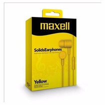 Audífonos Maxell Amarillo Con Microfono Solids Sin-7 Nuevo