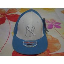 Gorra D Beisbol Azul C Blanco Yankees De Ny Nueva Etiquetada