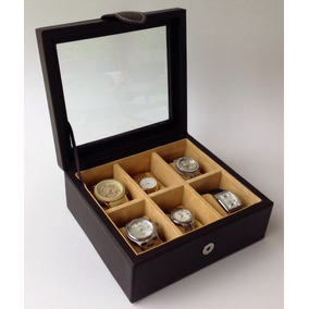 Relojero - Estuche Para 6 Relojes 100% Piel
