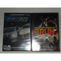 Need For Speed The Run Y Shift 2-originales Nuevos Pc