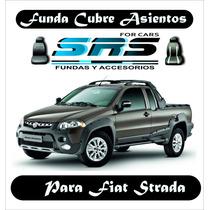 Funda Cubre Asientos D Cuero Ecológico Fiat Strada C.doble