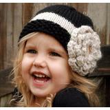 Gorro Flor Crudo |lana| Baby Boutique - Tejidos Bebe Niños