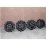 Llantas De Acero Aro 14 Con Neumáticos (toyota Yaris Sport)