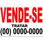 Placa De Vende Se Em Pvc 2uni.frete Gratis + Brinde