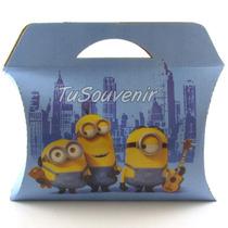 20 Cajas Cajitas De Carton Minions Souvenirs Infantiles