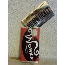 Barra De Chocolate Wonka Golden Ticket