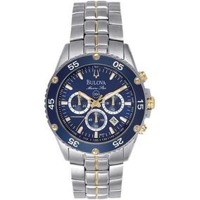 Relógio Bulova 98h37 Marine Star Azul Misto Dourado