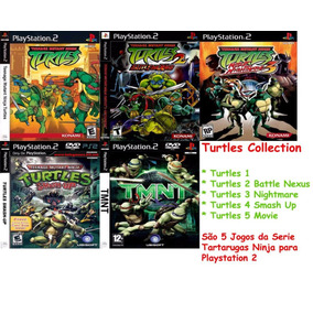 Tartarugas Ninjas Smash Up Play 2 (kit 5 Jogos Ps2 Turtles
