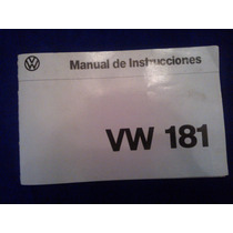 Manual De Propietario Para Safari Y Volkswagen Vw 181