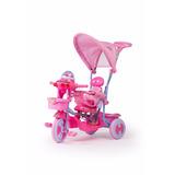 Triciclo Con Capota Y Manija Direccional Rainbow Rosa