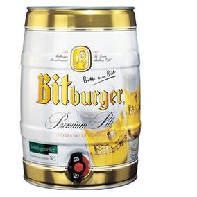 Barril Bitburger Premium Pils. Cerveza Importada.