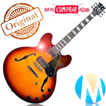 Guitarra Semi Acústica Honeyburst Gsh-350 Diamond Giannini +