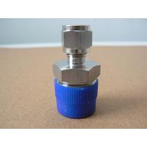 Conector De Acero Inoxidable Para Tubing 1/4 Od X 1/2 Npt