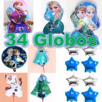 34 Globo Elsa Y Ana,envío Gratis,fiesta Frozen, Adorno.