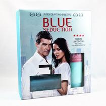 Set Blue Seduction 2 Pzs 100 Ml Eau De Toilette Body Lotion