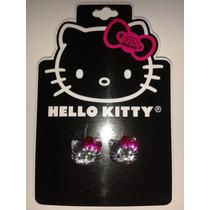 Aretes Cara Cristal Hello Kitty Sanrio! Envio Gratis