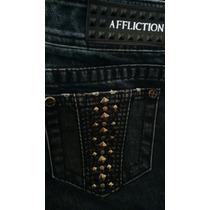 Affliction Jeans Black Premium Jade Para Dama 24r. True, R&r