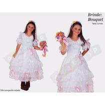 Vestido Junino Noiva Infantil Festa Junina Caipira Noivinha