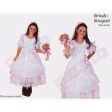Vestido Junino Noiva Festa Junina Caipira Noivinha + Bouquet