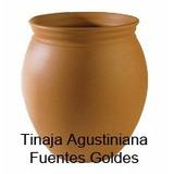 Tinaja Agustiniana De Barro 13x20cm (hay 4 Medidas)