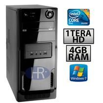 Pc Cpu Core2duo+4gb Memória Ddr3+1tera Hd+dvd+1ano Garantia