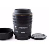 Lente Sigma 105mm F2.8 Ex Dg Macro Canon Ef, Con Detalle