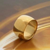 Aliança Maciça Cor De Ouro 12mm Feito De Moeda Antiga 1 Peça