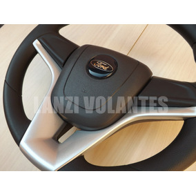 Volante Esportivo Cruze Ford Ka Fiesta Escort + Cubo Prata