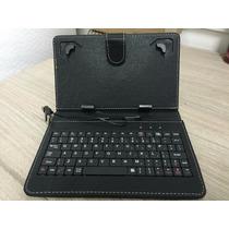 Capa Case Preta Teclado Nova Tablet 7 Polegadas Entrada V8