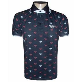 Camisa Polo Giorgio Armani Preta Ga810