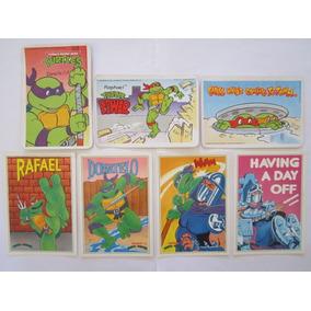 Lote 7 Cartões Postais Tartaruga Ninja