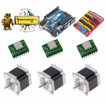 Kit Mini Cnc Tipo Grbl, Arduino, Polulu Nema 17 Shield Cnc