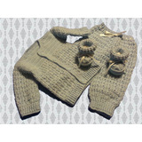 Ajuar Para Bebé Tejido A Mano-crochet