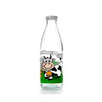 Botella Clásica Para Leche Decorada Con Vaca Marca Ibili